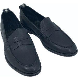 Robert Graham Mens Torres Black Toe Loafers Sz 10